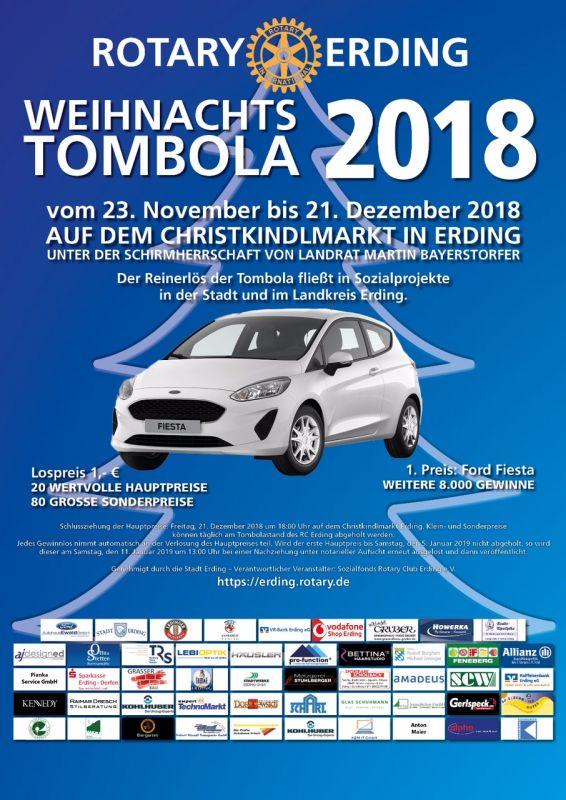 Rotary Club Erding Tombola 2018